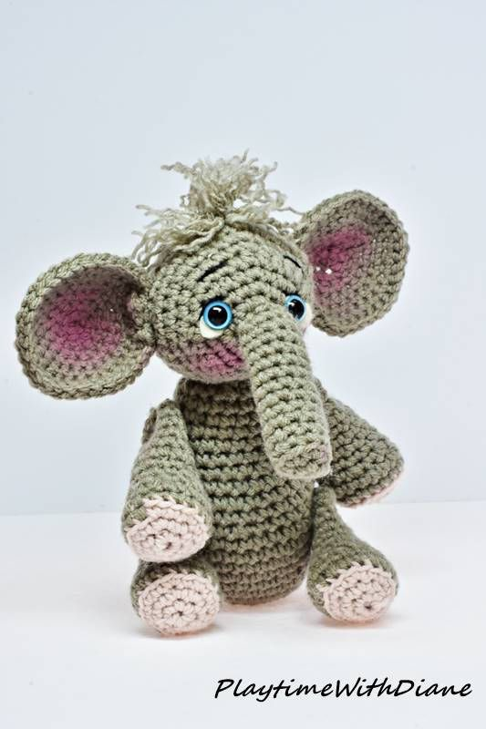 Ellie The Elephant Crochet Stuffed Animal Stuffed Toy All New