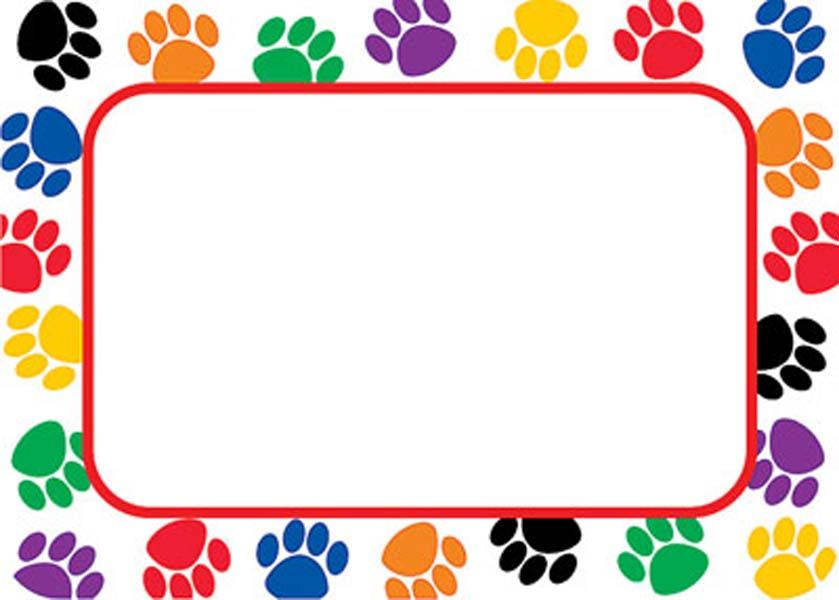 Paw Print Border For Address Labels Rph S Paw Patrol Paw