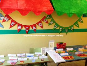 Rincón de una maestra: ¡Un MERCADO en nuestro pasillo!