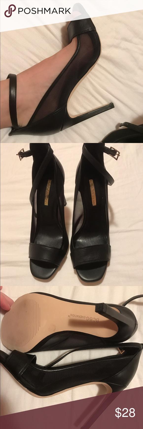 Never worn BCBG mesh open toe heels Mesh side, tall heel, open toe BCBGeneration Shoes Heels