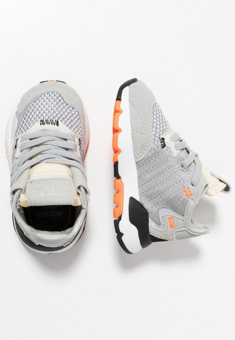 esculpir adverbio Nominación  adidas Originals NITE JOGGER - Slippers - grey two/grey three/solar orange  - Zalando.no
