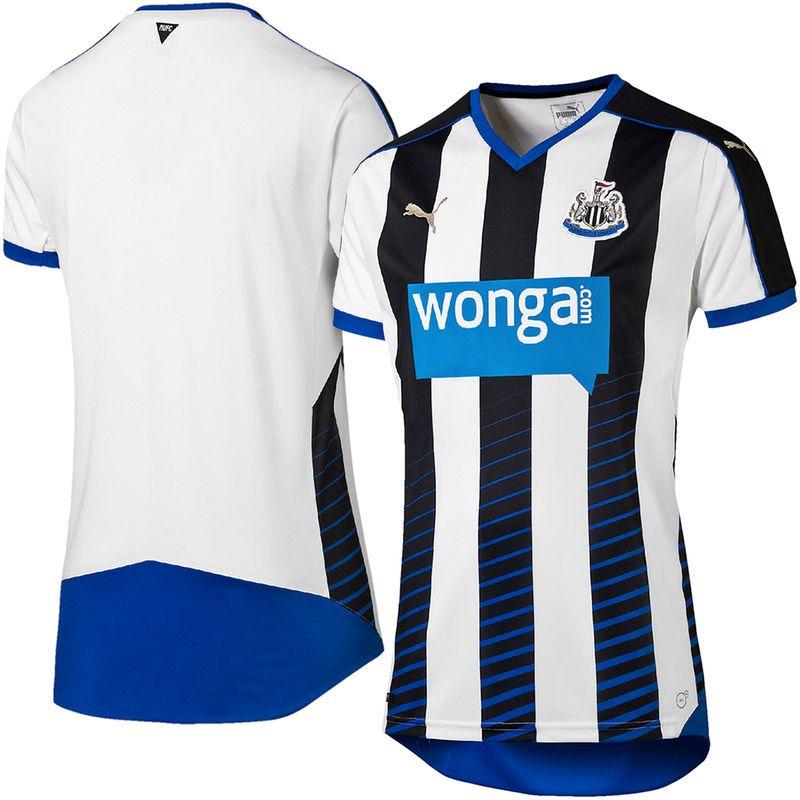2bac338891948 Newcastle United F.C. Puma 2015 2016 Replica Home DryCELL Jersey -  White Black