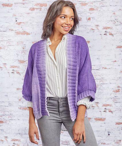 Knit Kimono Style Jacket | Cast On - Cast Off | Pinterest