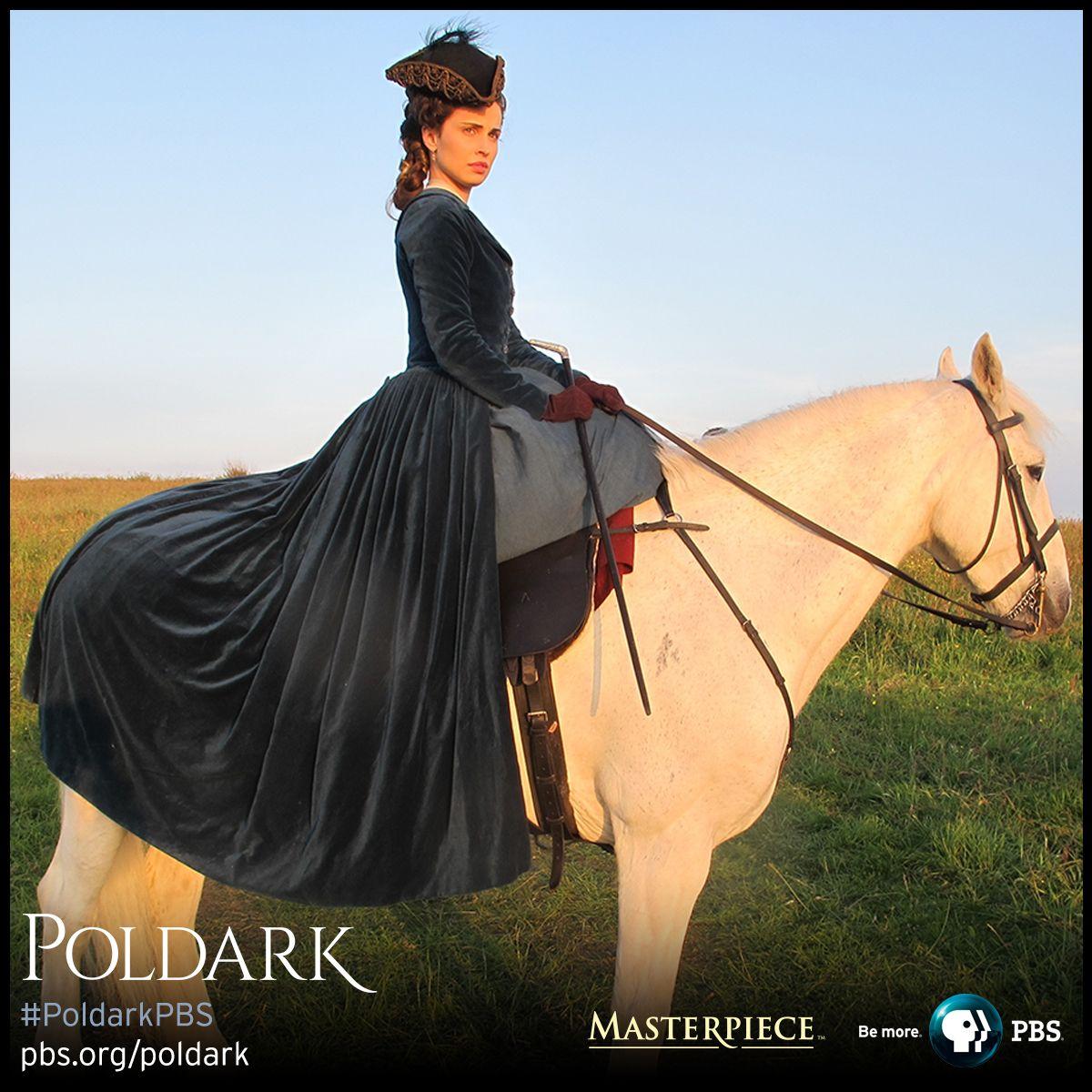 Heida Reed as Elizabeth in riding coat. | Poldark, as seen on Masterpiece PBS