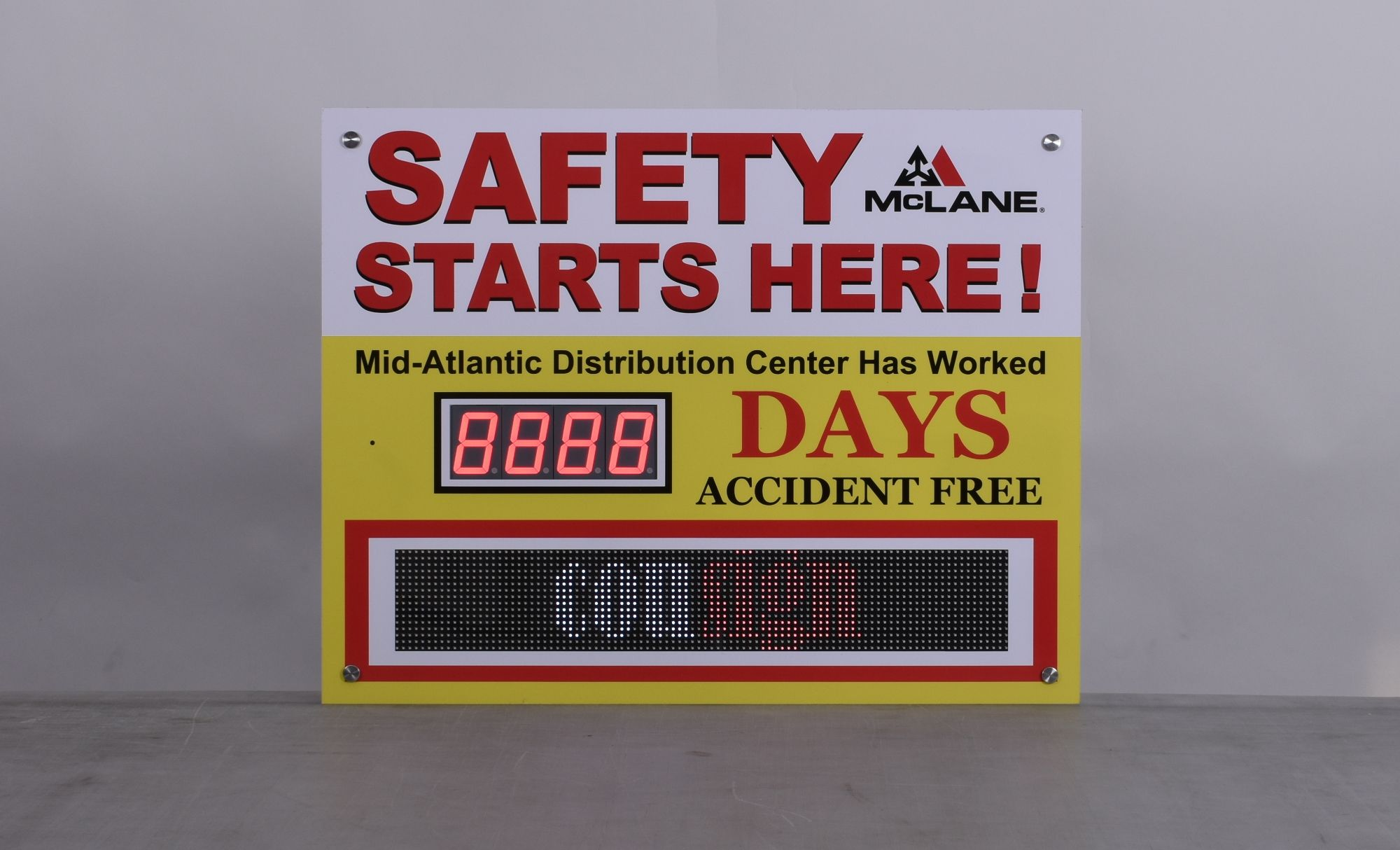 Scrolling Message Days Without Accident Sign (22Hx28W