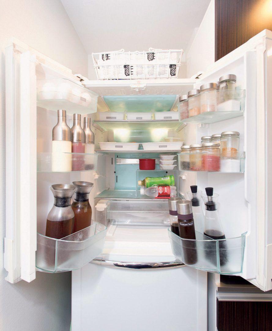 冷蔵庫は見える化して使いやすく ムダ買い 買い忘れが激減します 台所収納アイデア 広い家 冷蔵庫 収納