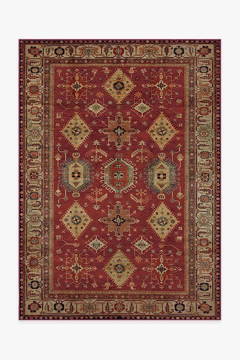 Cambria Ruby Rug In 2020 With Images Washable Area Rugs