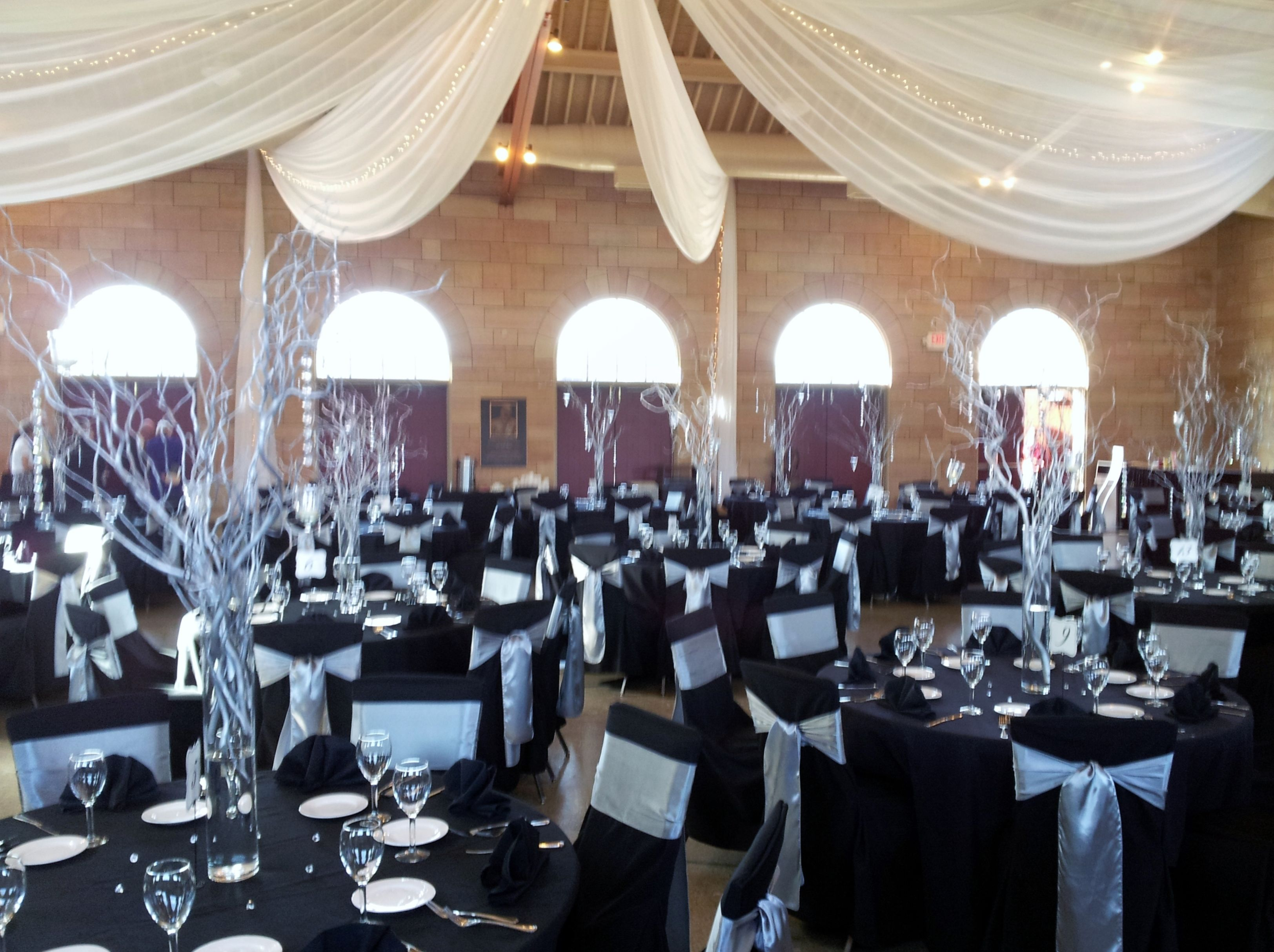 Harriet Island Pavilion With Ceiling D Chair Covers Linens And Fl Decor Created By Grand Designs