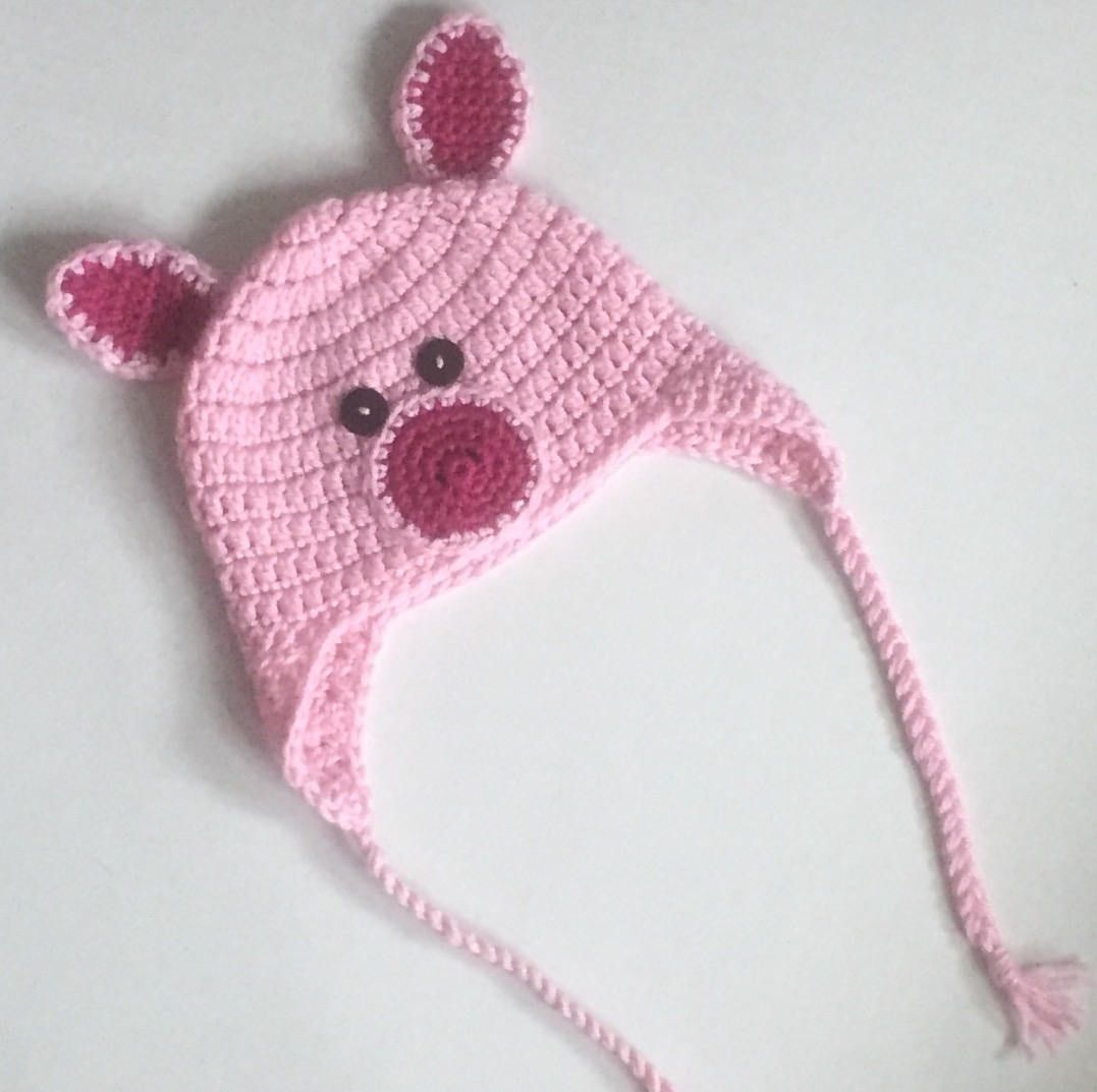 Crochet Pig Hat - Made to Order - 9-12 months | BABY HAT 7 | Pinterest