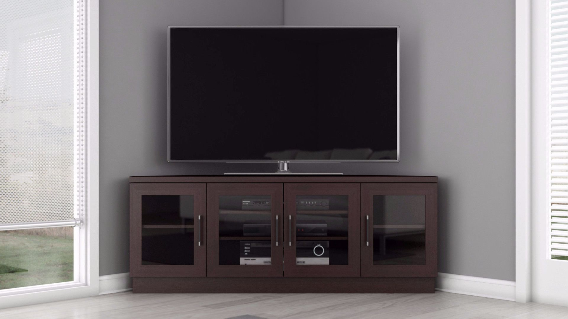 Ft60cccw Contemporary Tv Stands Corner Tv Tv Stand