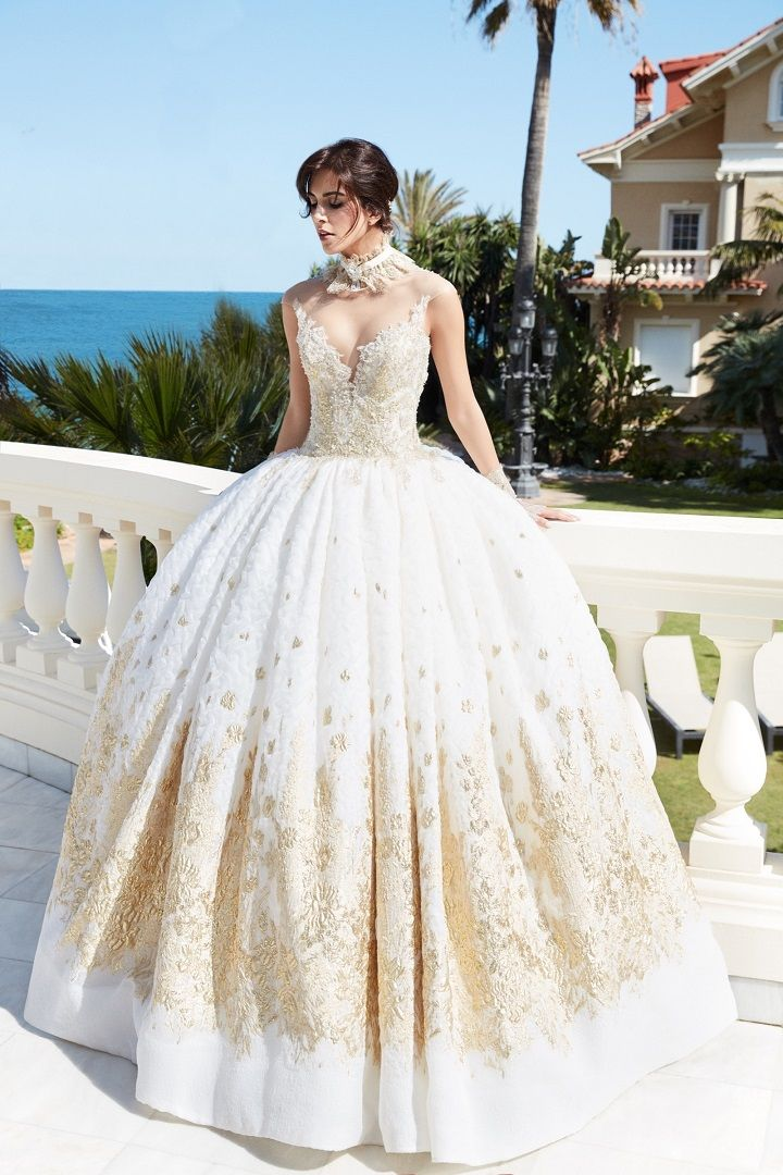 Alessandra Rinaudo 2018 Wedding Dresses | Ball gown wedding dress with gold details #weddinggown #bridalcollection #bridalgown