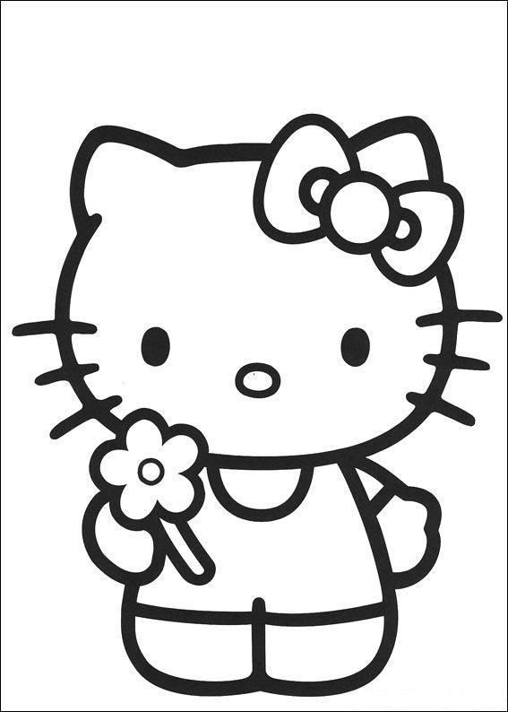 раскраски Hello Kitty китти Hello Kitty день рождения