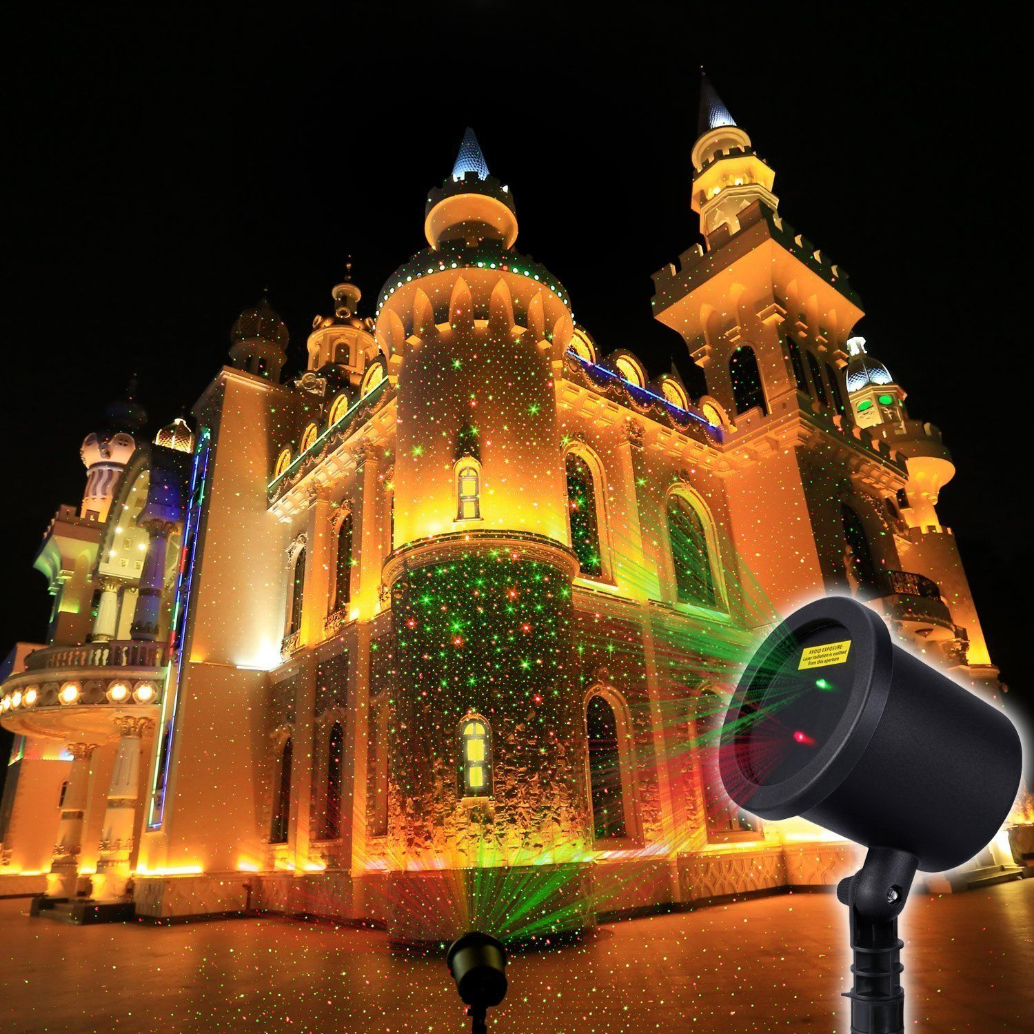 Amazon decolighting waterproof red green laser landscape amazon decolighting waterproof red green laser landscape star projector blinking light for aloadofball Image collections