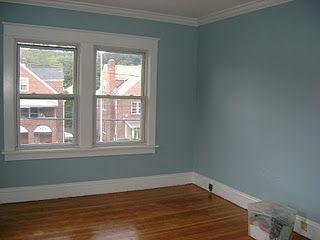 benjamin moore  paradiso  home gym decor blue bedroom