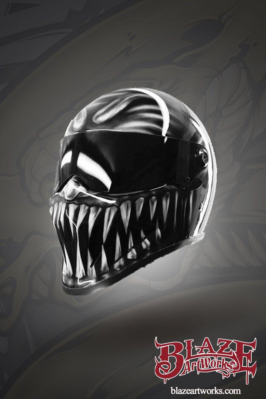 True Venom Design on Matrix Street FX premium Helmet