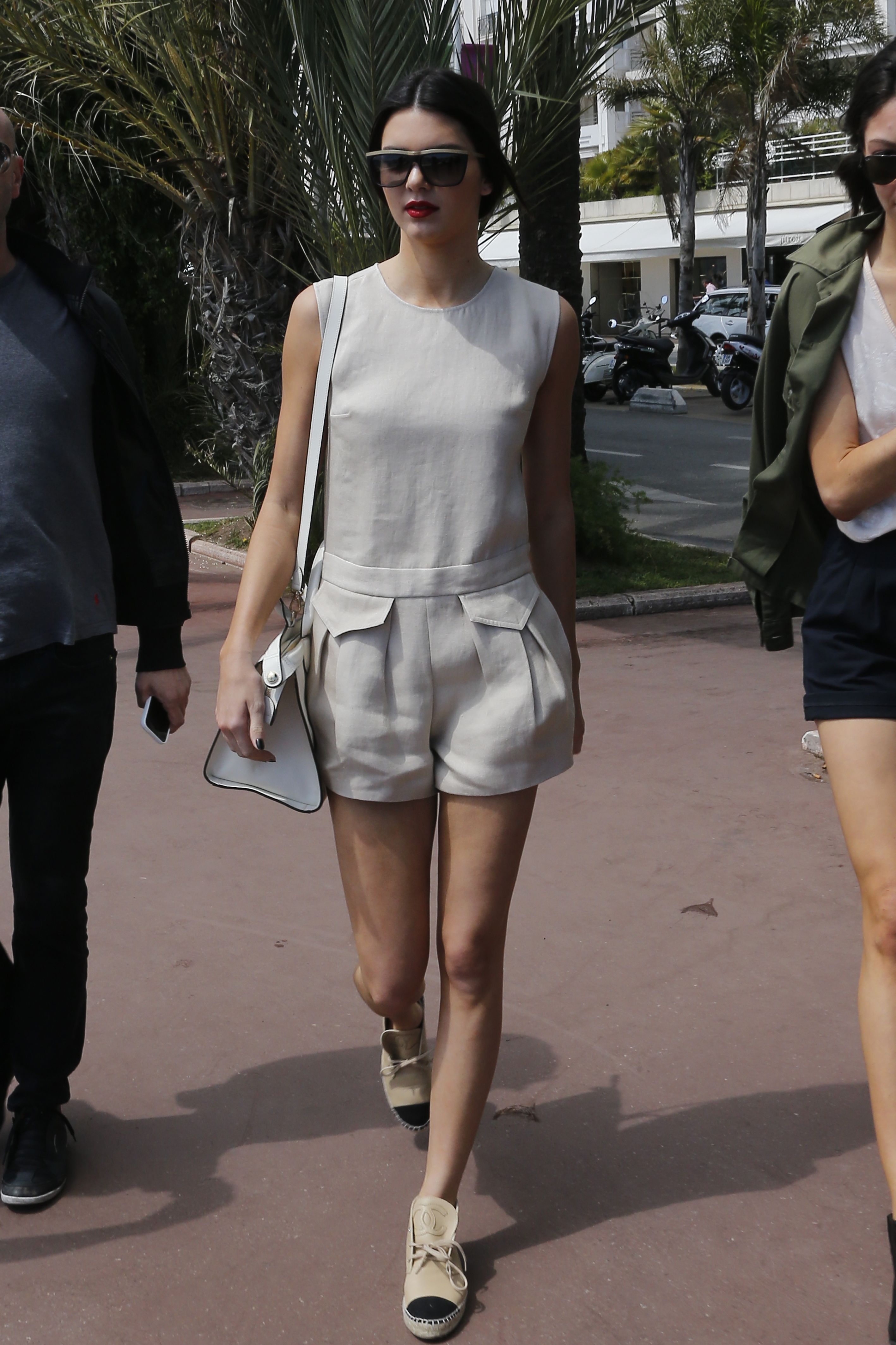 f3da959ec229 Socialite   Model Kendall Jenner has been spotted in Cannes with a Spring  2014 Longchamp playsuit   the