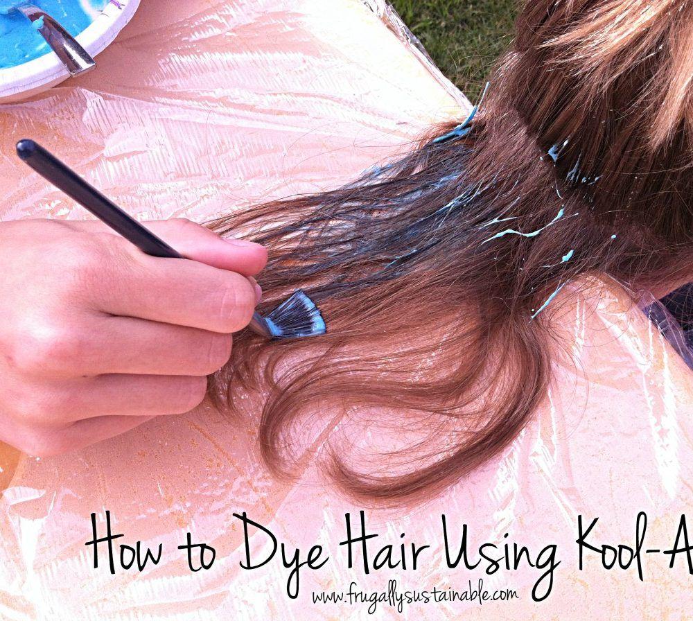 How To Dye Hair Using Kool Aid A Picture Tutorial Dip Dye Hair Dyed Hair Kool Aid