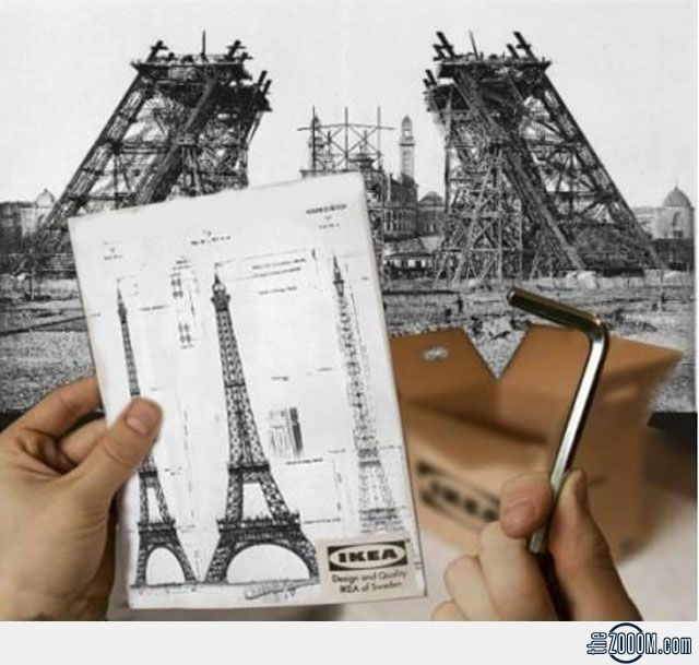 Ikea Eiffel Tower, last kit available at IKEA shop was sold in the 19th  century