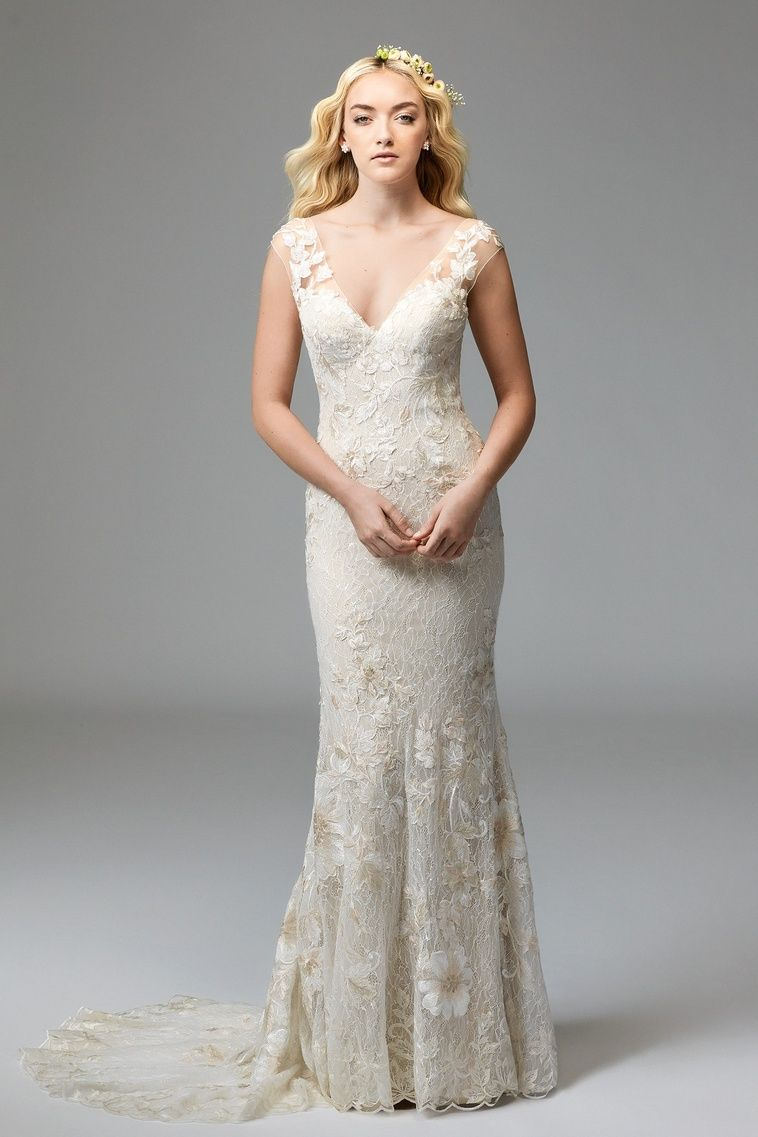 03d6ff9650ea Watters Doyle lace wedding dress. Find this dress at Janene's Bridal  Boutique located in Alameda, Ca. Contact us at (510)217-8076 or email us ...