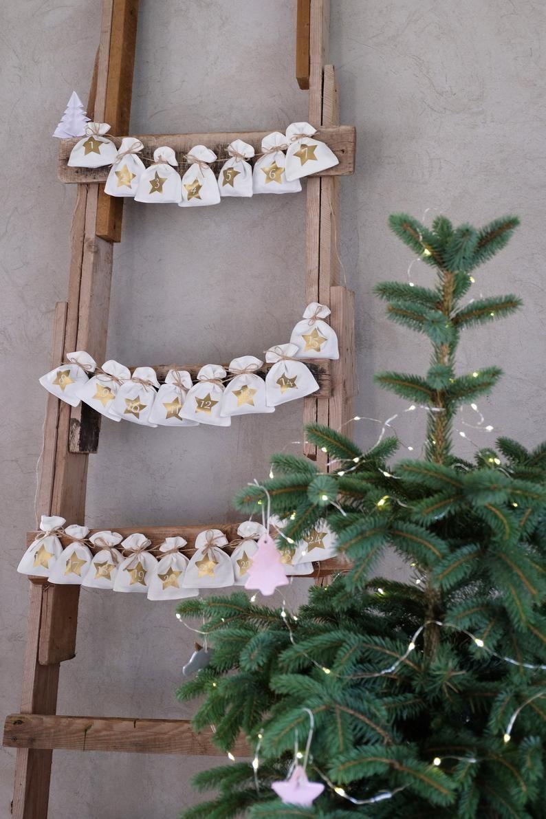 Christmas Advent Calendar Bags Scandi Advent Calendar Etsy In 2020 Christmas Advent Christmas Advent Calendar Etsy Christmas