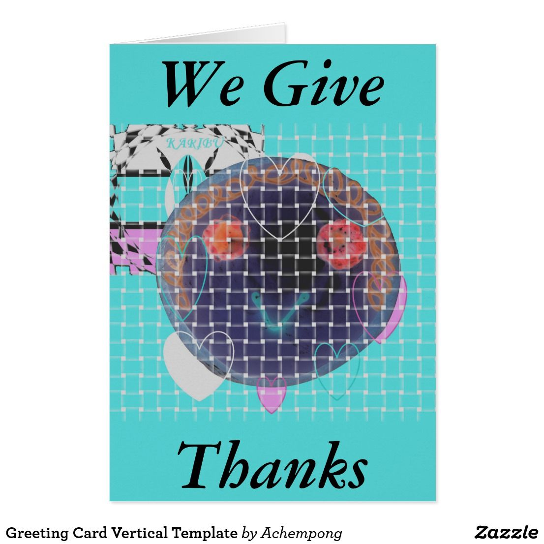 Greeting Card Vertical Template Pinterest Products