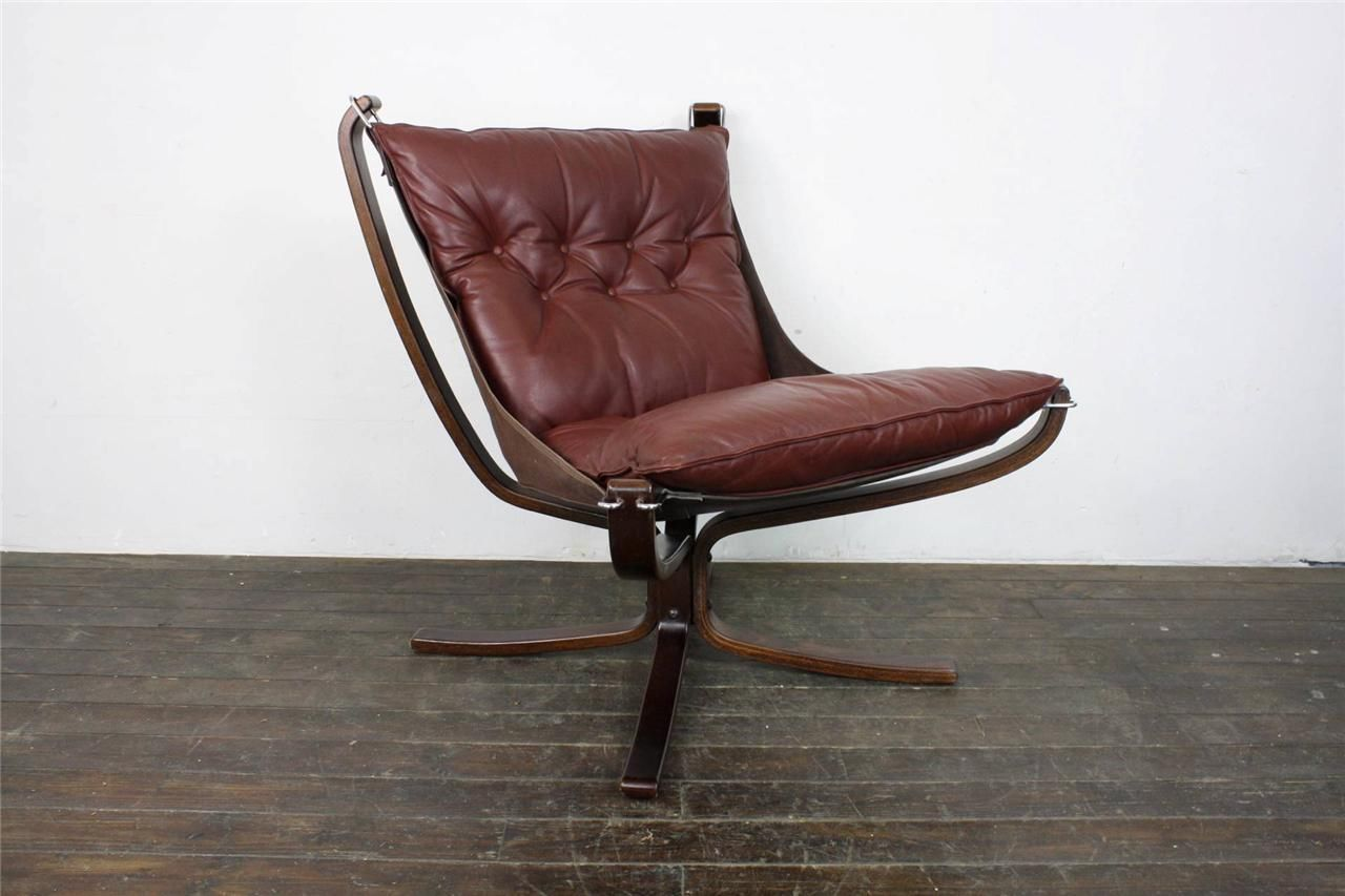 Danish Falcon Chair Sigurd Res Retro 60s 70s Midcentury Mid Brown 843 Ebay