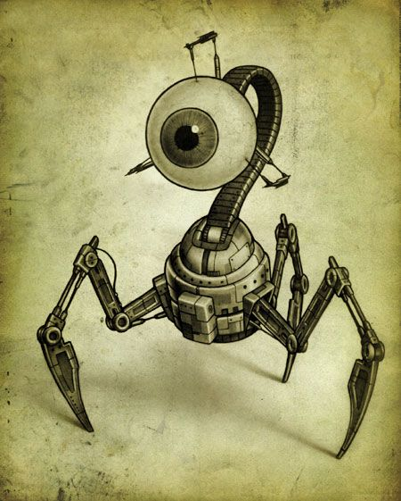 """Optibot : edit"" , made by: BluTack aka John B Waterson  - (Robot Eye)"