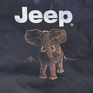 Brawny Series Black Denim Elephant 35 Tire Cover For Jeep