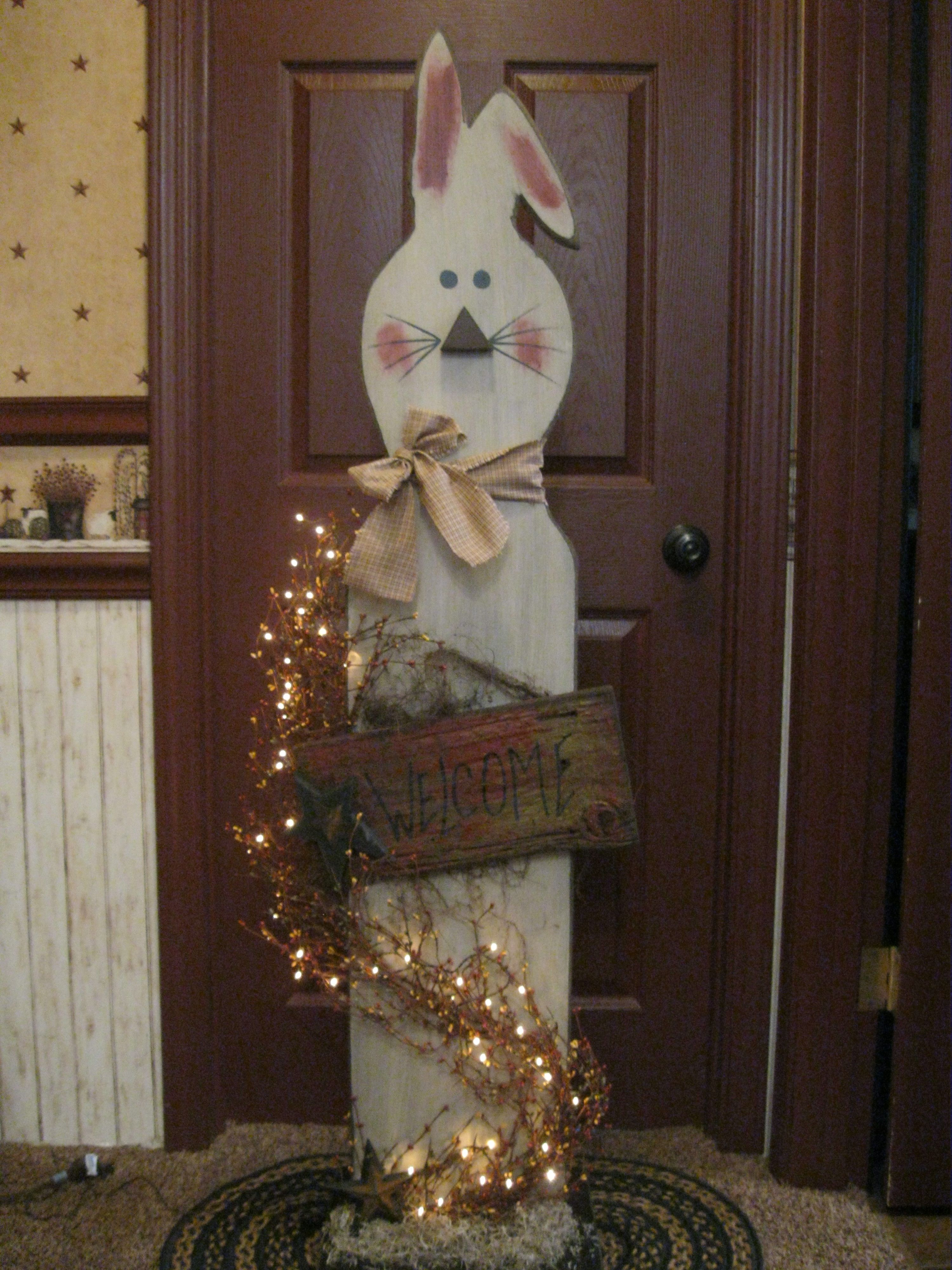 Big Bunny Wooden Easter Decorations Spring Easter Decor Easter Decorations