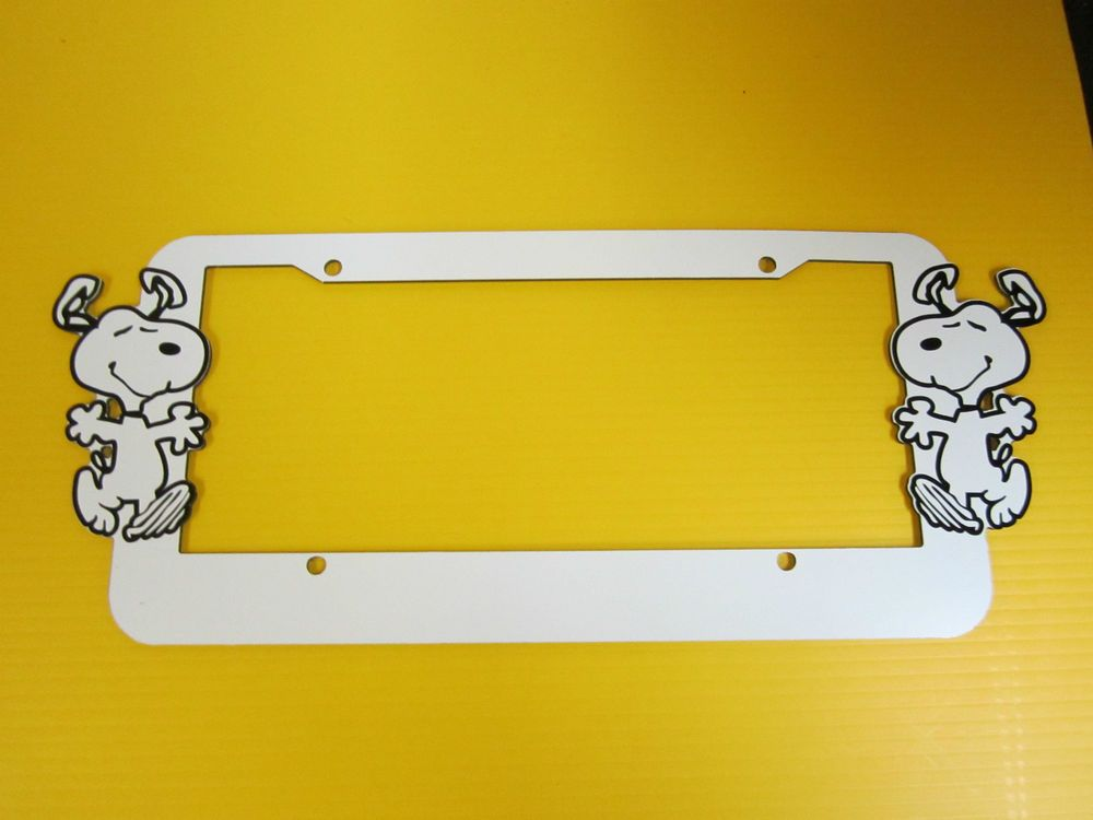 SNOOPY ALUMINUM LICENSE PLATE FRAME CUSTOM OR PERSONALIZED YOUR TEXT ...