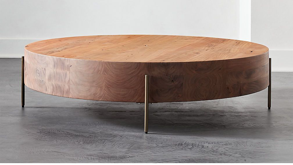 Proctor Low Round Wood Coffee Table Reviews Coffee Table Wood Round Wood Coffee Table Kid Friendly Coffee Table