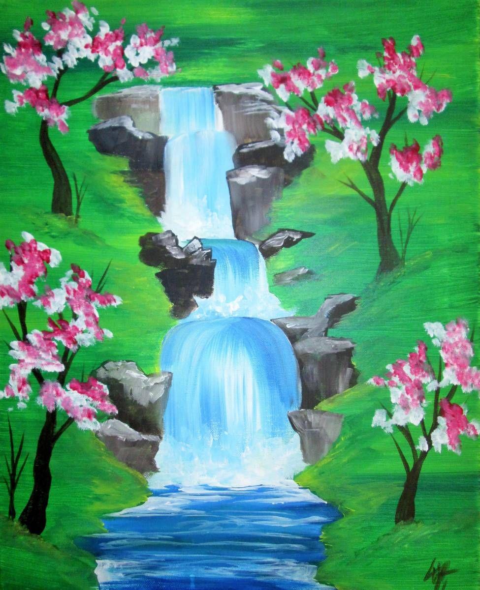 Waterfall Painting Inspiration Art