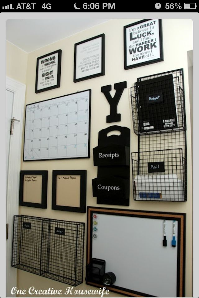 Incroyable Office Wall Organization/Storage: Accented In Black. Clean U0026 Tasteful
