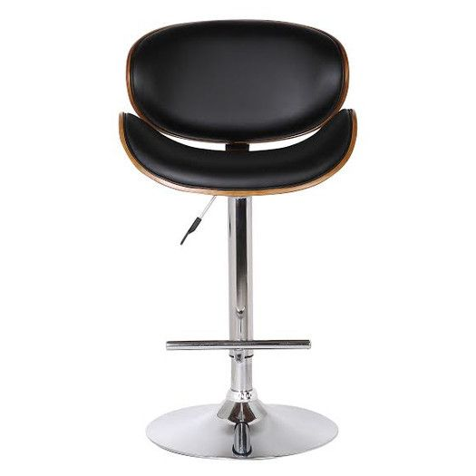 Container Adjustable Height Swivel Bar Stool With Cushion
