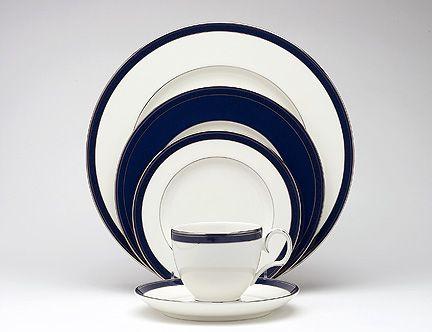 RP:  Noritake White Porcelain Platinum Band - Stardust Platinum