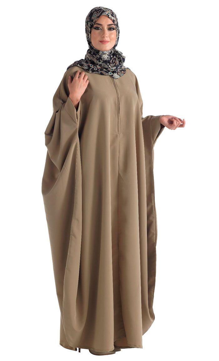 Kimono Kaftan Abaya with Zipper Front