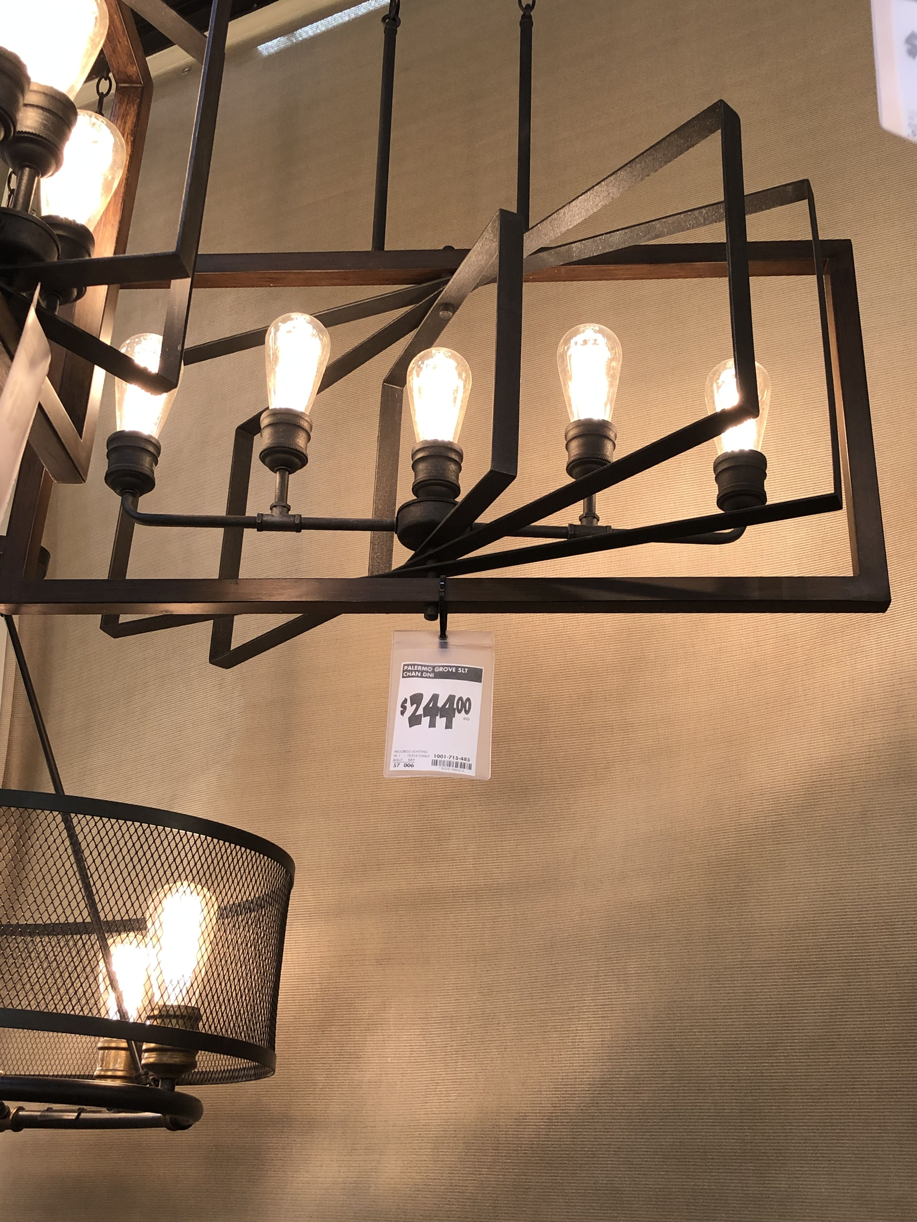 Chandelier for dining room from Home Depot Dining room