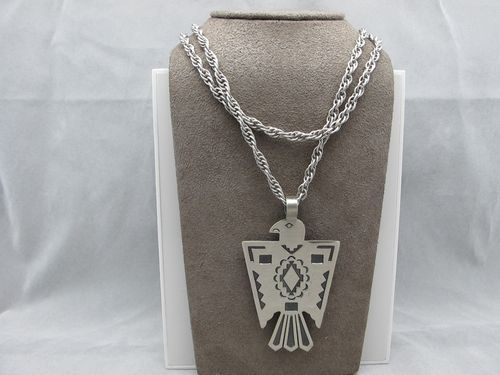 This Southwestern Tribal Eagle is made of Nickel Silver and stamped BELL.