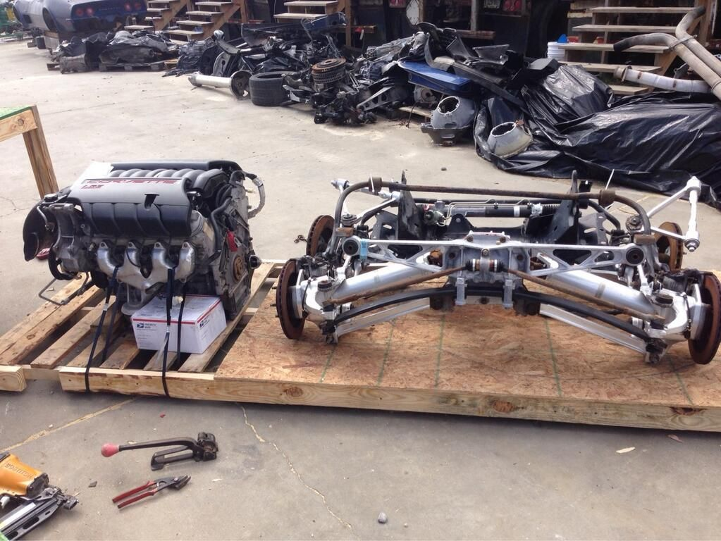 2010 Corvette LS3 Engine with C4 Front & Rear Suspension being ...
