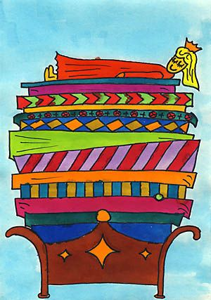 Prinzessin auf der erbse  Prinzessin auf der Erbse | Kindergarten Art Projects | Pinterest ...