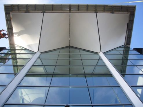 Tensioned facade including ceiling in the building by Poly-Ned