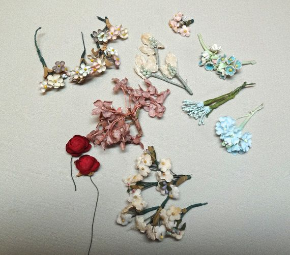 Vintage artificial flowers charming variety for dolls by sugaroo