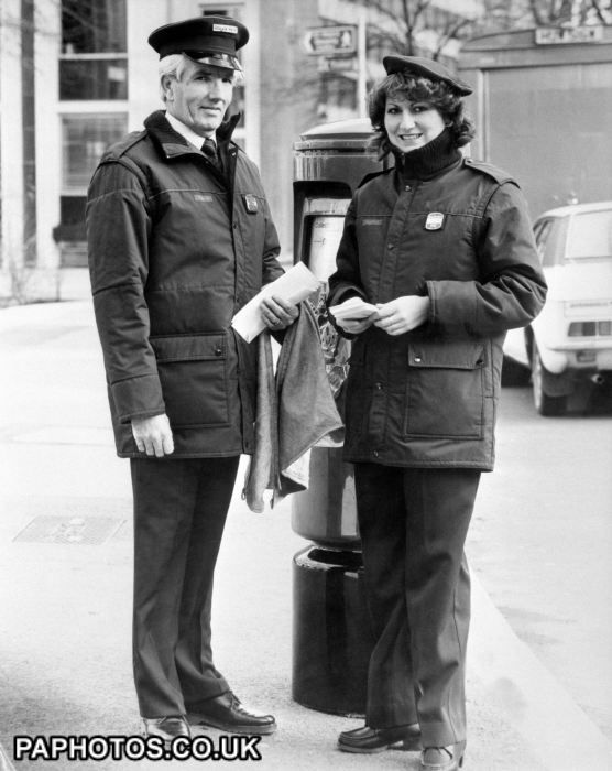 Postman Postwoman Uniform 1984 Poster Size Prints London Photos