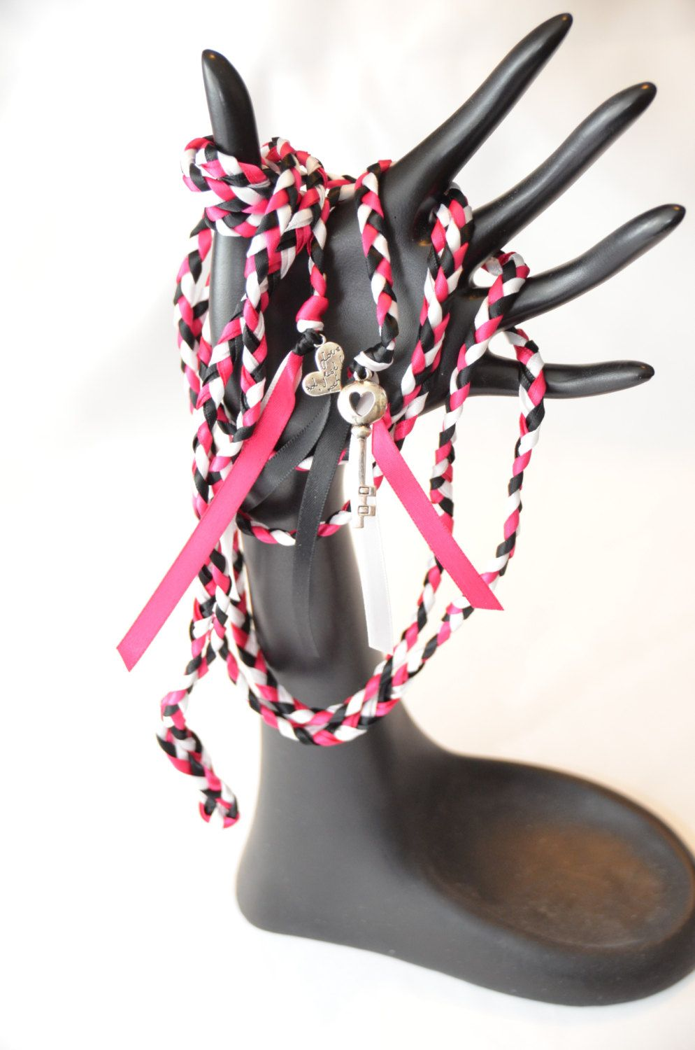 Key to Love  Wedding Hand Fasting/ Binding Cord ~ Handfasting  ~ OOAK ~ Hot Pink Theme ~ Tying the Knot by DivinityBraid on Etsy