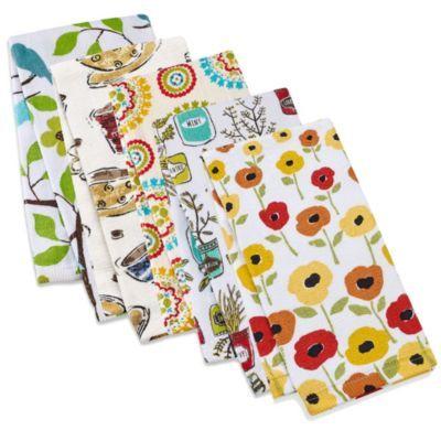 Kitchensmart® Print Kitchen Towel   In Epicurean U0026 Wine Font  BedBathandBeyond.com