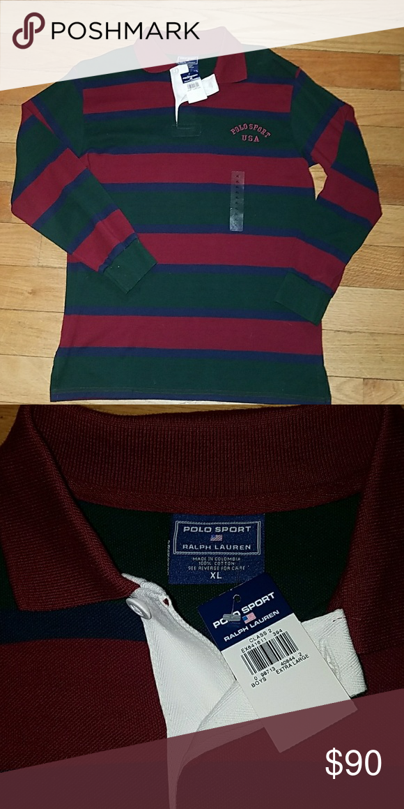 c79a0561 New with tag Vintage Ralph Lauren Polo Sport. 90s vintage deadstock with  tags. Size is SO in boys so it fits like a mens medium Polo by Ralph Lauren  Shirts ...
