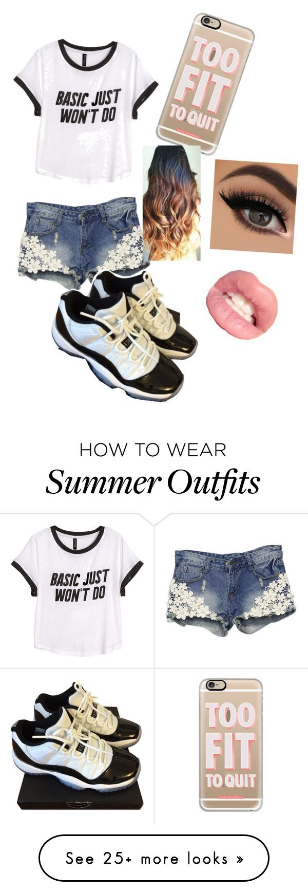 """Summer outfit"" by maddog2004 on Polyvore featuring H&M, NIKE and Casetify"