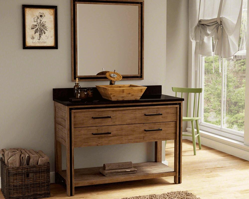 Einfaches wohnmöbel design bambus badezimmer möbel  mehr auf unserer website  von grohe die