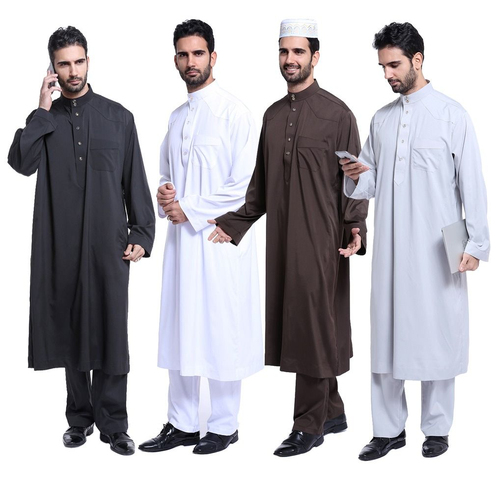 048cfd3efec8 High quality Muslim Islamic Clothing for men Arabia Jubba Thobe plus size dubai  Men s Kaftan Abaya