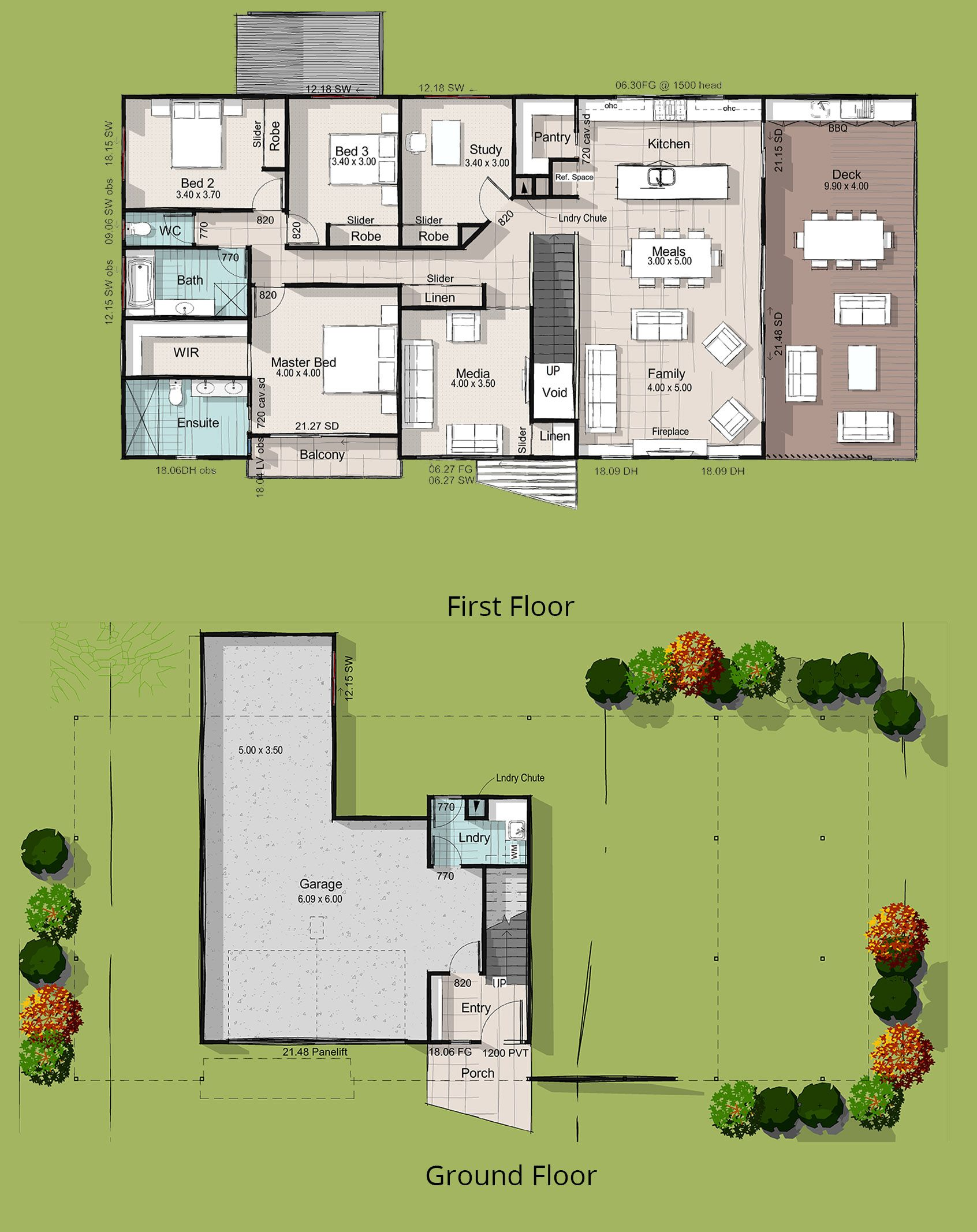 Kaiser, Acreage Lot House Plan, Custom Home Designs